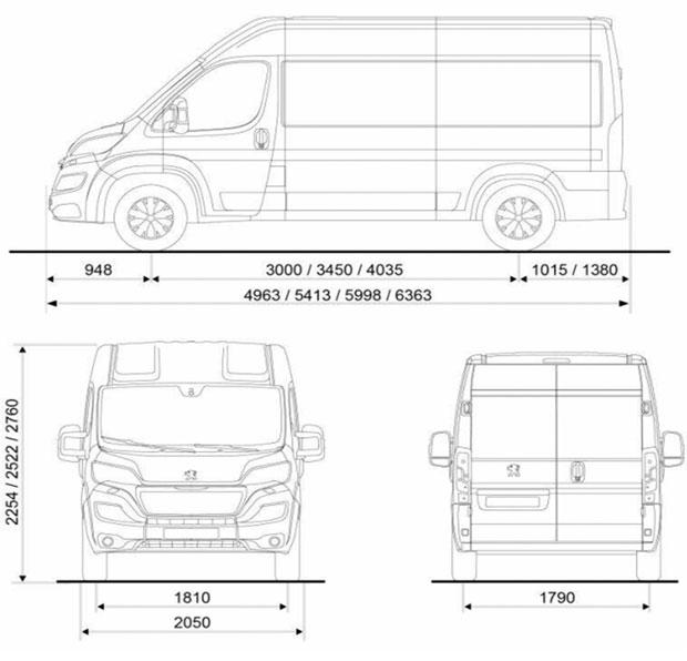 Informations sur le boxer de peugeot for Peugeot boxer dimensions interieures